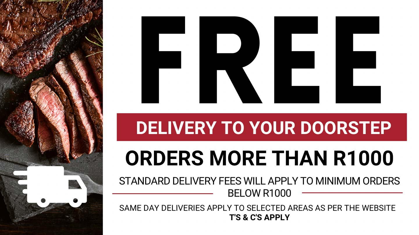 Free Deliver on Orders above R1000